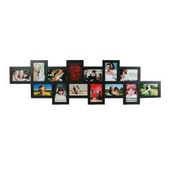 Offset Black Wood Photo Frame