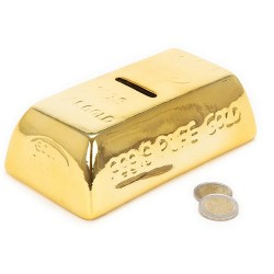 Gold Bar Ceramic Money Box