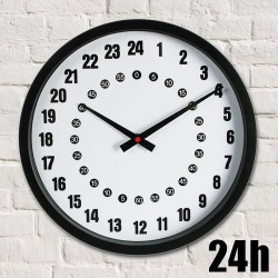 24 Hour Analogue Wall Clock