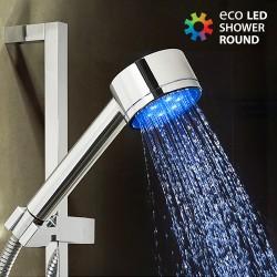 Round Eco LED Light Shower Head