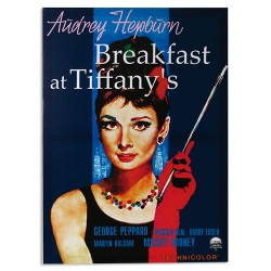 Audrey Hepburn Breakfast at Tiffany´s Picture on Linen Canvas 50 x 70