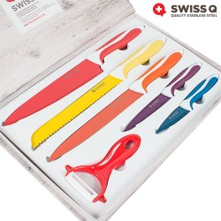 Swiss Q Ceramic Coated Knife Set (6 Pieces)
