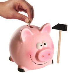 Ceramic Piggy Bank in Shed 14 x 12cm