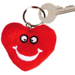 Funny Faces Heart Keychain