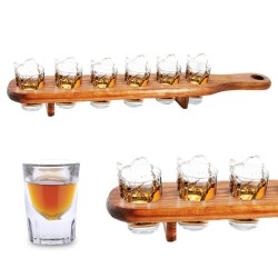 Wooden Shot Glass Holder