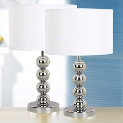 Steel Balls Bedside Lamps (pack of 2)