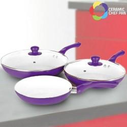 Ceramic Chef Pan Set (5 Pieces)