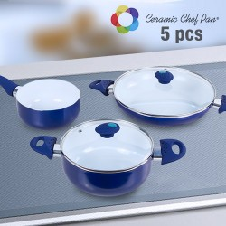 Ceramic Chef Pan Cookware (5 pieces)