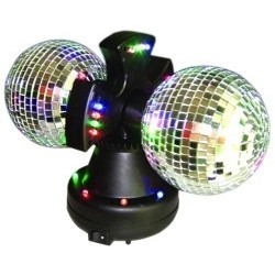 Double Disco Mirror Ball
