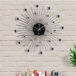 Metal & Crystal Wall Clock