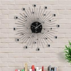 Metal & Crystal Wall Clock