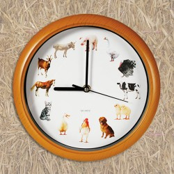 Farm Animal Melody Wall Clock