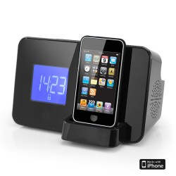 AudioSonic CL1461 Radio Alarm Clock for iPod / iPhone