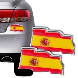 Spanish Flag Car Stickers (pack of 2)