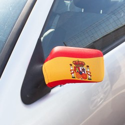 Spanish Flag Rear View Mirror Cover (2Pc)