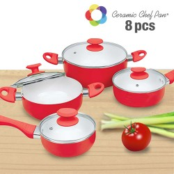 OUTLET Ceramic Chef Pan Cookware (8 pieces) (No packaging)
