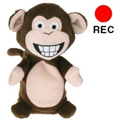 Plush Monkey with Recording and Playback Function