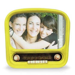 Nostalgic Radio Glass Photo Frame